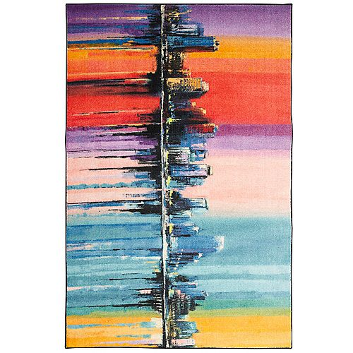 Mohawk Home Cityscape Multi 8 ft. x 10 ft. Indoor Area Rug