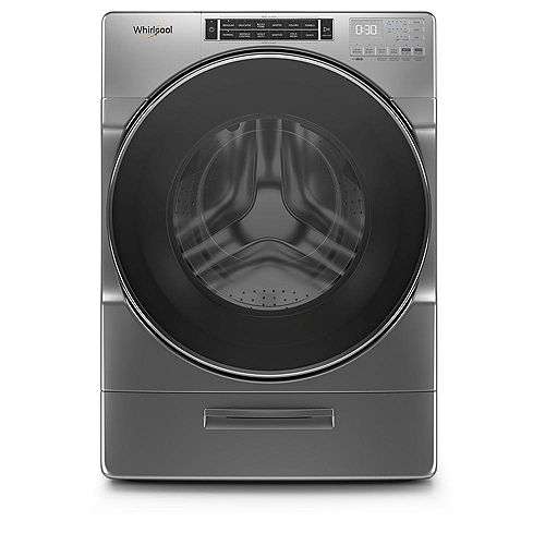 5.8 cu. ft. Front Load Washer with Load & Go XL in Chrome Shadow