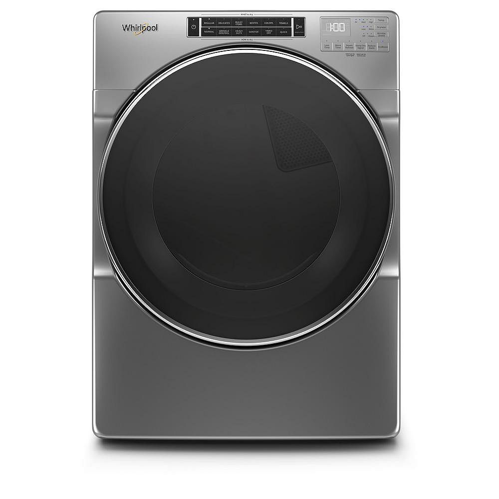 Whirlpool 7.4 cu. Ft. Front Load Electric Dryer with Steam in Chrome Shadow - ENERGY STAR®