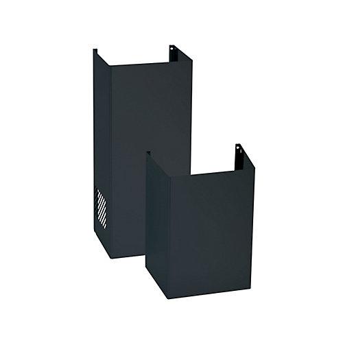 10 Ft. ceiling duct cover kit for decorative range hoods - Black Slate