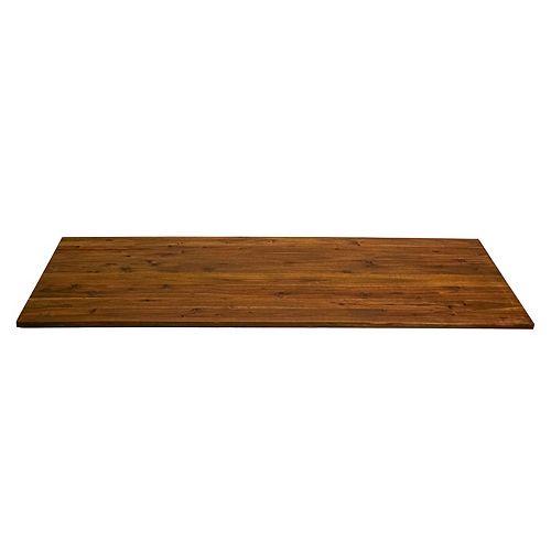 Comptoir à planches larges en bois dur d'acacia 79 x 25 x 1, fini huile de bois de cire dure chocolat