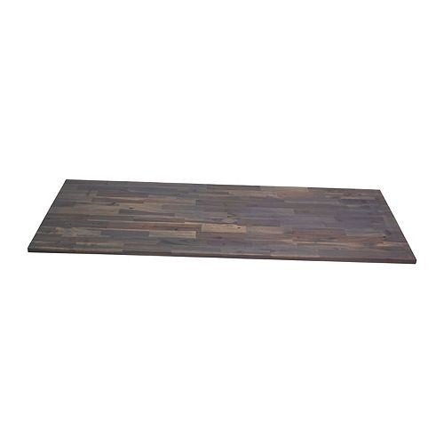 INTERBUILD 72 x 25.5 x1.5 inch Acacia Hardwood Countertop Dusk Grey