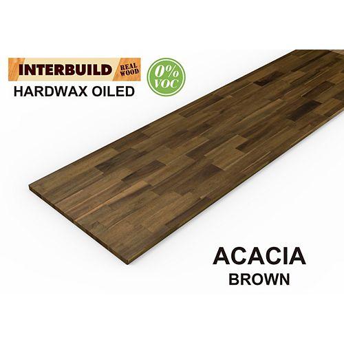 "INTERBUILD 72 ""x 25.5"" x 1 "", comptoir de cuisine acacia, brun"