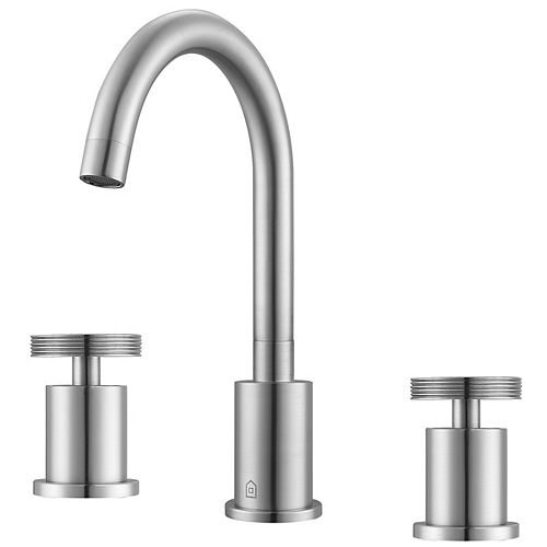 Nova Widespread 2-Handle Bathroom Faucet in Brushed Nickel