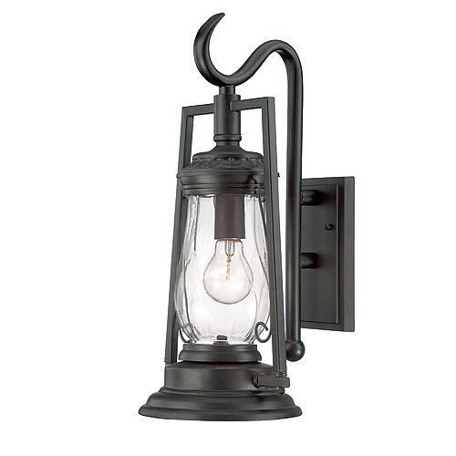 Acclaim Lighting Kero Luminaire applique mural extérieur noir à 1 ampoule