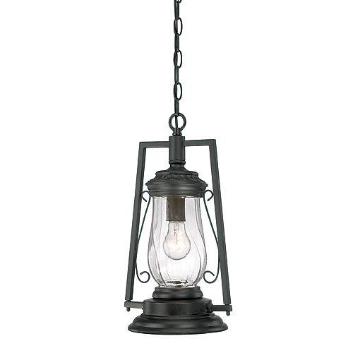 Acclaim Lighting Kero 1-Light Matte Black Outdoor Hanging Lantern
