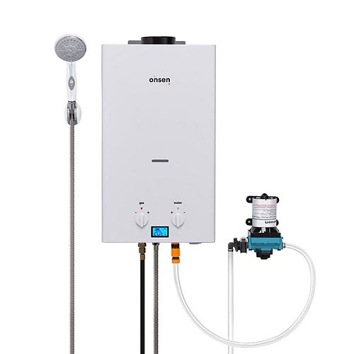 10L Portable Tankless Water Heater w/ Onsen 3.0 Pump