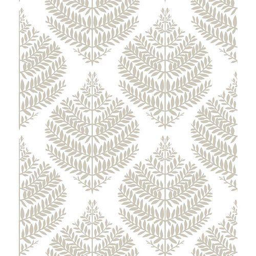 Hygge Fern Damask Peel & Stick Wallpaper