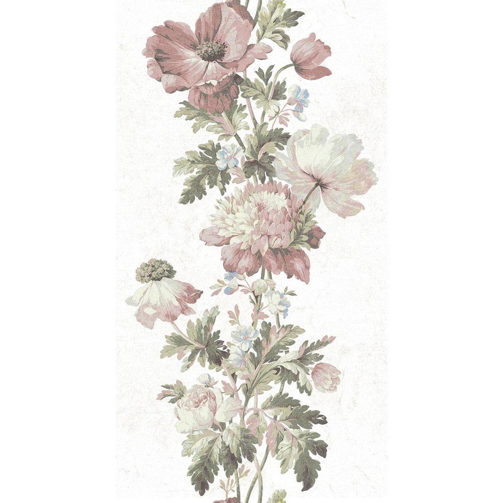 RoomMates Vintage Floral Stripe Peel & Stick Wallpaper ...