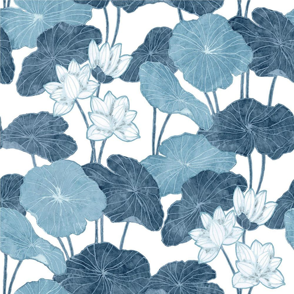 RoomMates Lily Pad Peel & Stick Wallpaper | The Home Depot ...