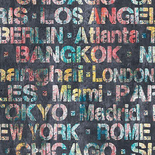 Fond d'écran Peel & Stick Cities of the World