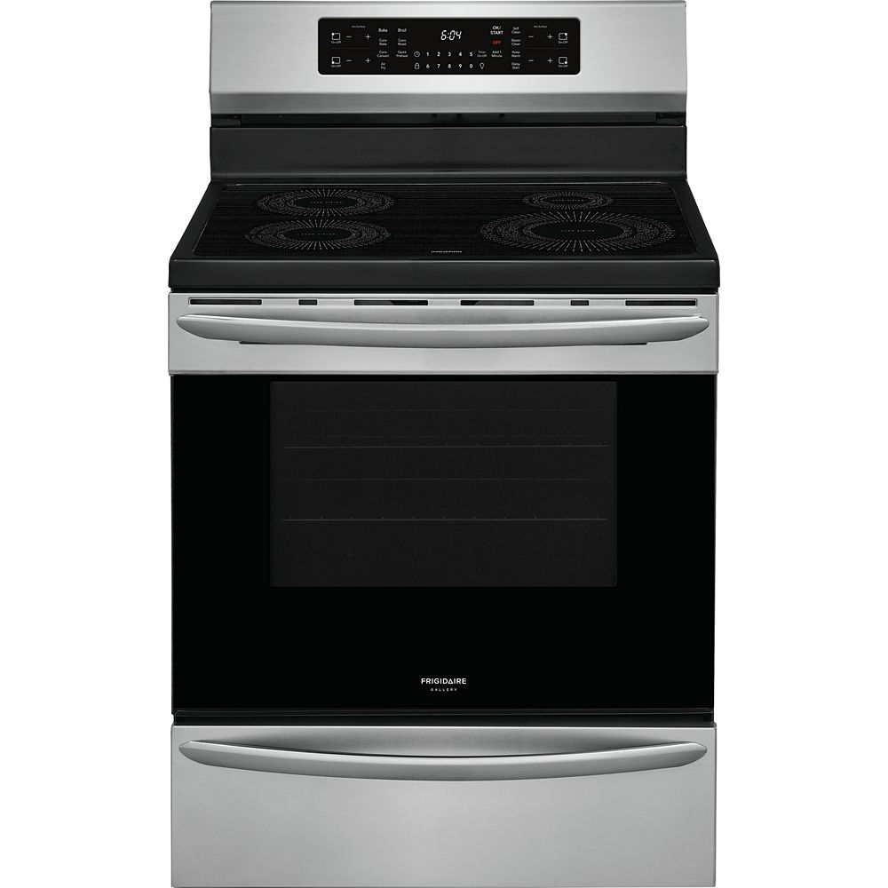 Frigidaire Gallery 30-inch 5.4 cu. ft. Freestanding Induction Range with Air Fry in Smudge-Proof® Stainless Steel