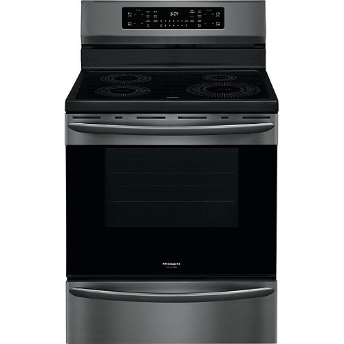30-inch 5.4 cu. ft. Freestanding Induction Range with Air Fry in Smudge-Proof® Black Stainless Steel
