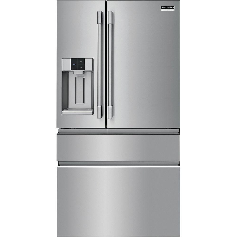Frigidaire Professional 36-inch W 21.8 cu. ft. 4-Door French Door Refrigerator in Smudge-Proof® Stainless Steel - ENERGY STAR®