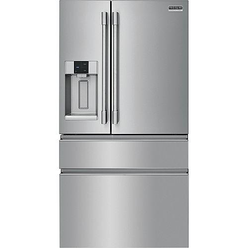 Réfrigérateur à 4 portes françaises de 36 pouces de largeur et 21,8 pieds cubes en acier inoxydable Smudge-Proof - ENERGY STAR®