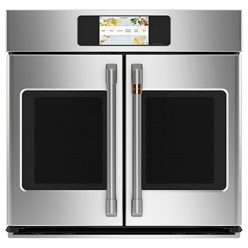 Café 30-inch Professional French-Door Convection Single Wall Oven with Hot-Air Fry in Stainless Steel
