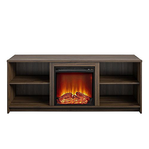 Courtland 60-inch W x 20-inch D x 23.5-inch H TV Stand Electric Fireplace