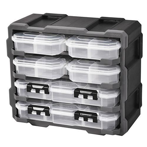 6-Piece Storage Bin Set with Wall-Mount