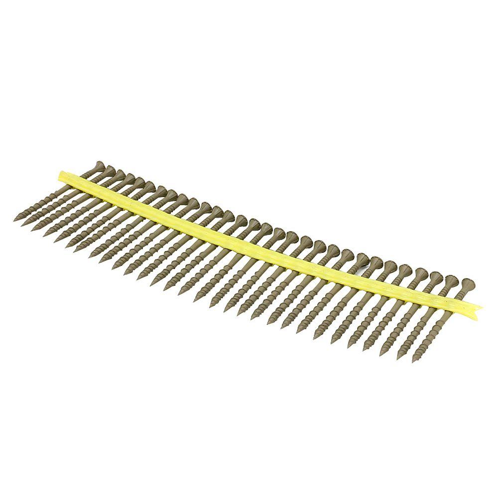 SIMPSON Deck-Drive DSV WOOD Screw (Collated)  10 x 3 inch T-25 6-Lobe, Tan (1000-Qty)