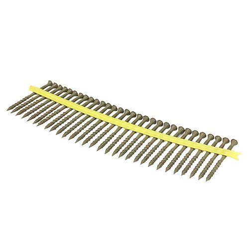Deck-Drive DSV WOOD Screw (Collated)  10 x 3 inch T-25 6-Lobe, Tan (1000-Qty)