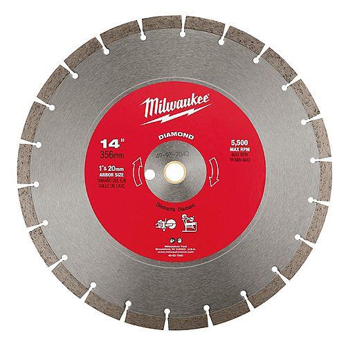 14-inch Diamond Segmented General Purpose Cut-Off Saw Blade