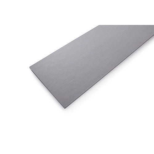 Tablette en bois laminé gris sergé de 10 po x 36 po