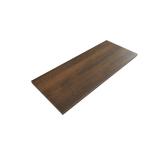 Tablette en bois laminé chêne châtaignier de 11.8 po x 23.8 po