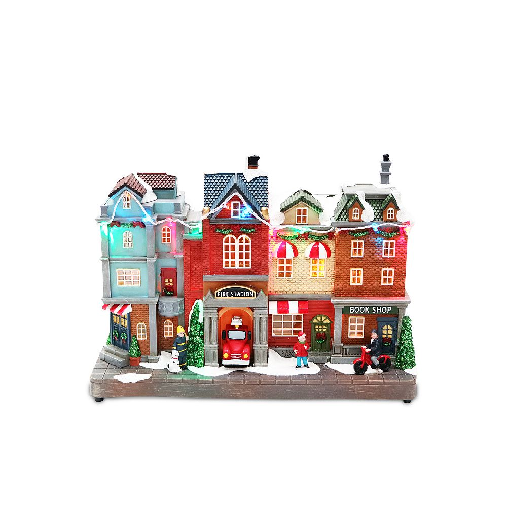 Home Accents Holiday 8.5-inch LED Fire Station Scene