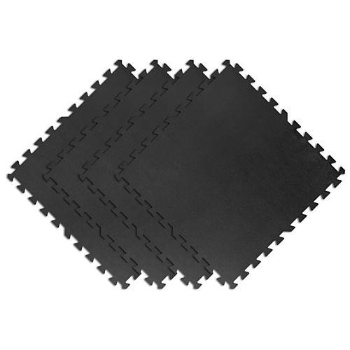 TrafficMaster 24-inch x 24-inchInterlocking Foam Tiles in Black (4-Pack)