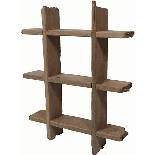Vintiquewise Rustique en bois flottant étagère