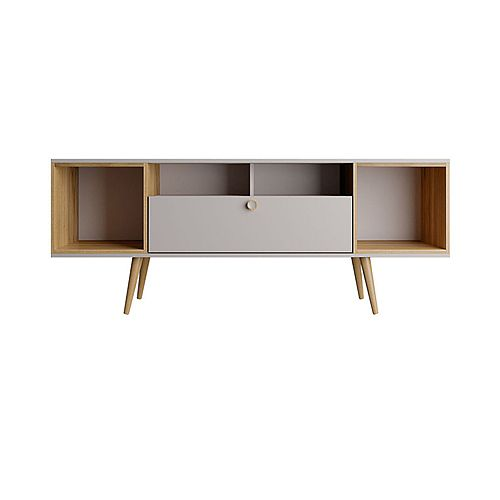 Theodore 62.99 TV Stand in Off White and Cinnamon