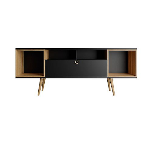 Theodore 62.99 TV Stand in Black and Cinnamon