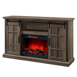 Baybrook 55-inch Infrared Electric Media Cabinet Fireplace in Aged Oak Finish