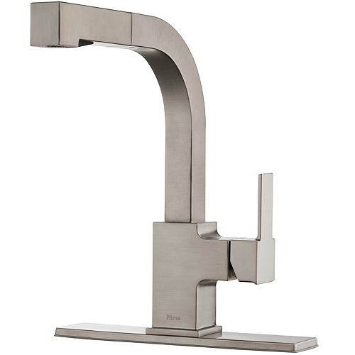 Pfister Arkitek 1-Handle Pull-Out Kitchen Faucet in Stainless Steel
