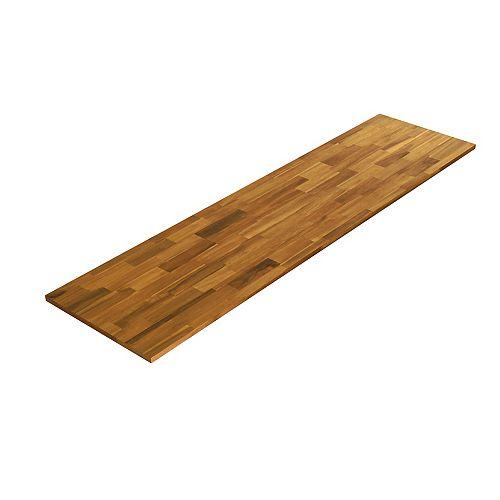 96 x 40 x 1 inch Acacia Hardwood Countertop in Golden