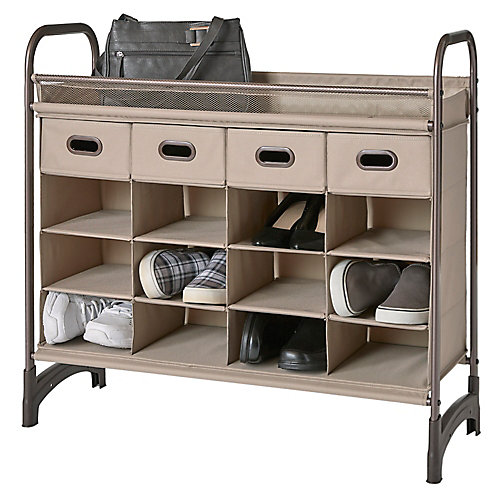 16 Cubby with 4 Drawers