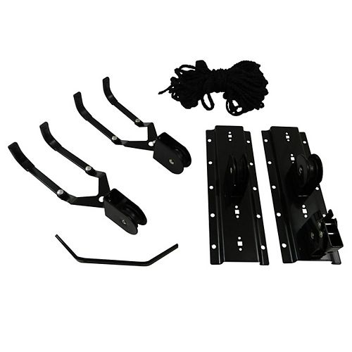 10-inch (254 mm) Black Metal Bicycle Lift System with 44 lb Load Rating