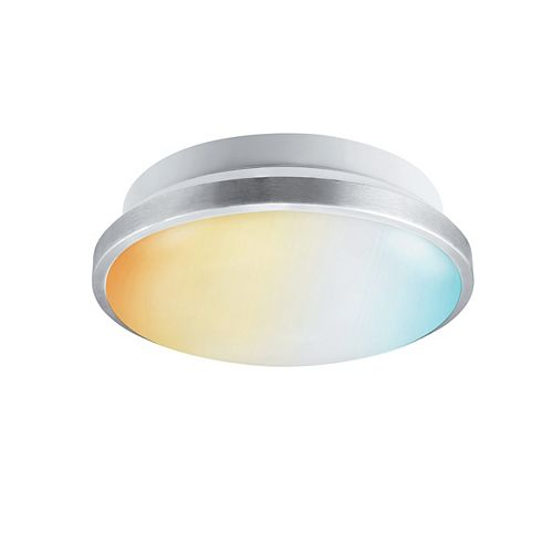 "14"" DuoBright LED Flush Mount Ceiling Light Fixture 18W Dimmable, Adjustable Color Temperature"