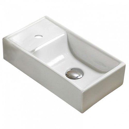 16.3-inch W Single Hole Sink