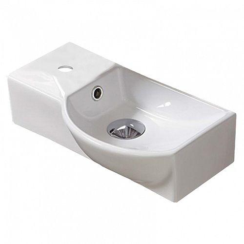 14.7-inch W White Sink