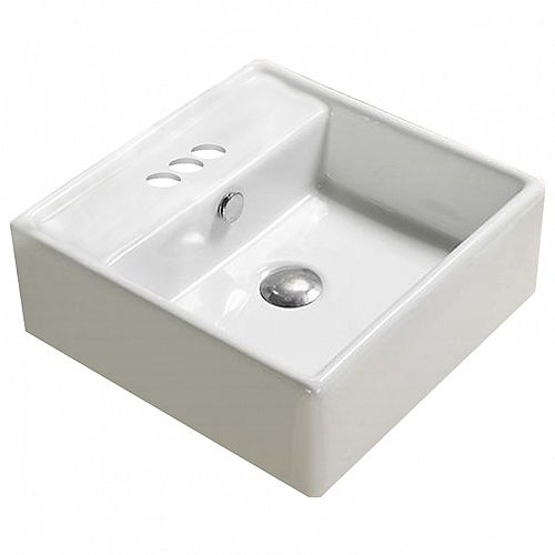 American Imaginations 18.1-inch D Wall Mount Sink