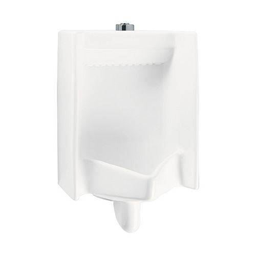 Commercial Wall-hung Rectangular Washout Urinal with Top Spud in Cotton White