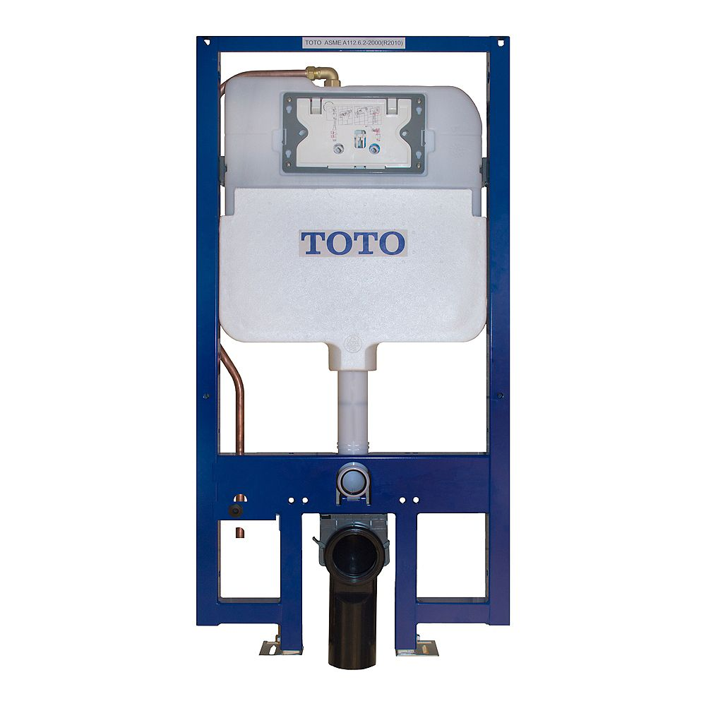 TOTO DuoFit In-Wall Tank System Dual Flush - Copper Supply with 1.6 and 0.9 GPF