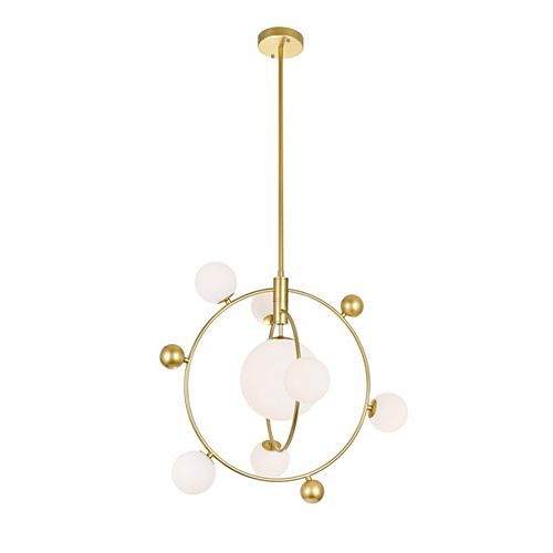 CWI Lighting 8 Light chandelier with Medallion Gold Finish