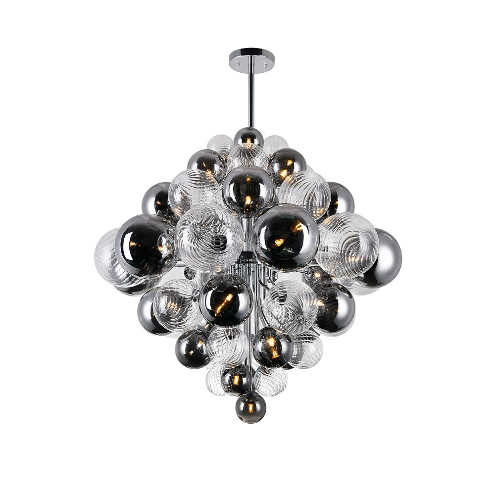 CWI Lighting 27 Light chandelier with Chrome Finish