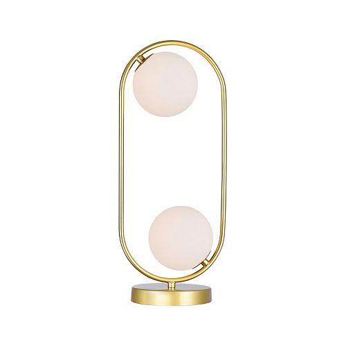 2 Lampe avec médaillon d'or Terminer