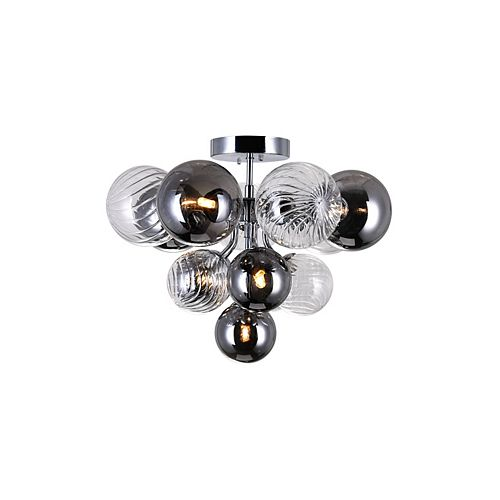 CWI Lighting 6 Light flush mount with Chrome Finish