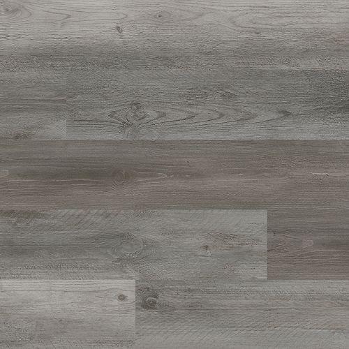 5 mm étanche Planches en vinyle de luxe, Chêne Gray Cloud, 7 po x 48 po. Rigides. (23,8 pi2/boîte)