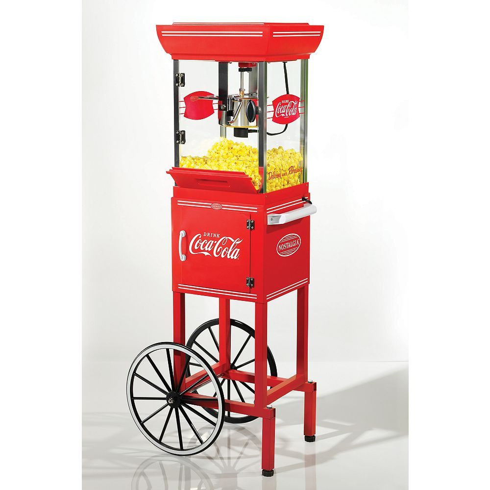Nostalgia Nostalgia CCP399COKE Coca-Cola 2.5-Oz. Popcorn Cart - 48 Inches Tall
