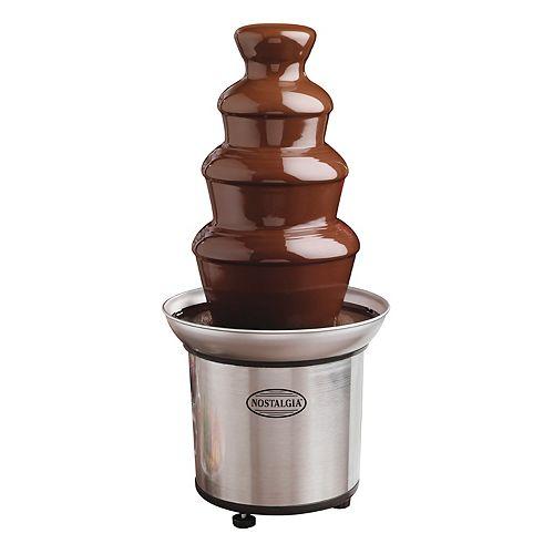 Nostalgia Nostalgia CFF986 4-Tier 2-Lb. Fontaine à fondue au chocolat en acier inoxydable